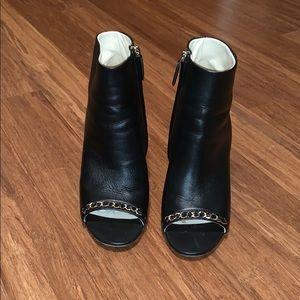 Chanel Lambskin Open Toe Short Booties